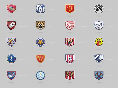 Football Logos league premier logos icons football soccer