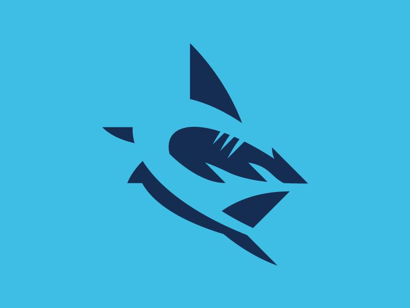 Shark Logo by Fraser Davidson on Dribbble