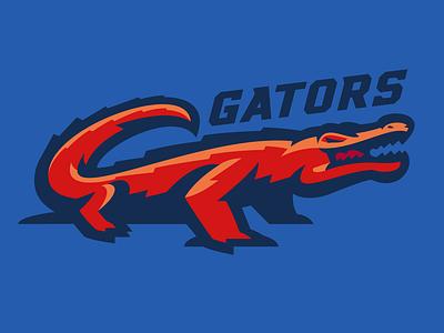 Gators sport logo alligator gator