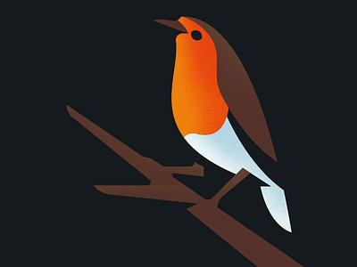 Christmas Robin logo robin