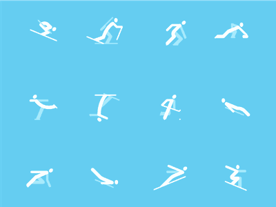 Winter Olympic Icons icons skiing pyeongchang 2018 olympic olympics winter