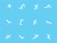 Winter Olympic Icons