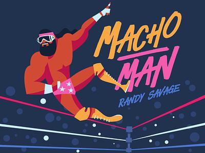 Macho Man Randy Savage rude rick ravishing savage randy man macho warrior ultimate hogan hulk wwf