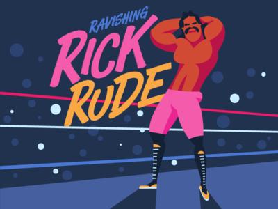 Ravishing Rick Rude wwf hulk hogan ultimate warrior macho man randy savage ravishing rick rude