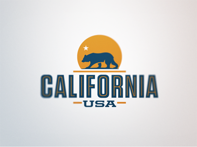 California, USA california bear usa logo