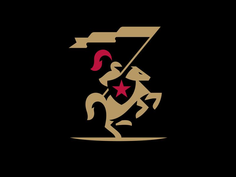 Knight Logo logo horse knight