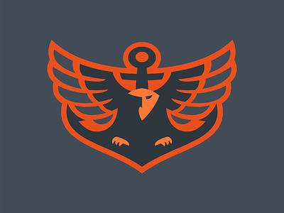 Naval Eagle logo anchor eagle