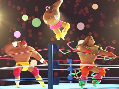3D Wrestling Guys warrior ultimate savage randy man macho hogan hulk wwe wwf