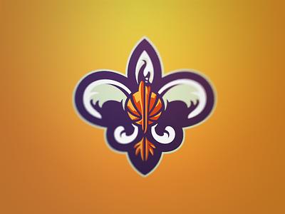 Bird De Lis 1 new orleans pelicans nola basketball nba sport logo