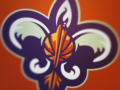 Bird De Lis 2 new orleans pelicans nola basketball nba sport logo