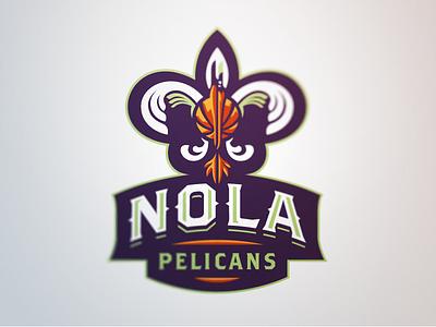 Pelicans 2 pelicans new orleans basketball nba nola sport logo