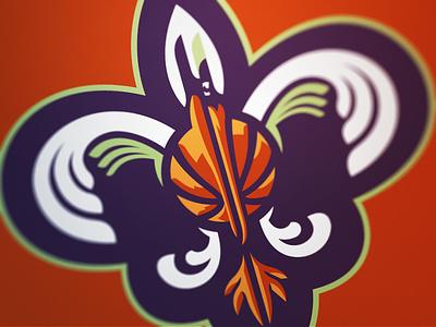 Pelicans 3 pelicans new orleans basketball nba nola sport logo