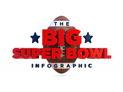 The Big Super Bowl Infographic nfl 49ers chiefs bowl super c4d 3d infographic fooftball