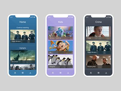 TV Discovery App app ui design