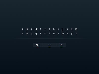 Minimalist Keyboard ui design