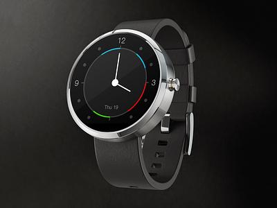 Moto 360 Watch face ui wearables smartwatch design