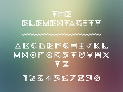 The Elementarity Typeface