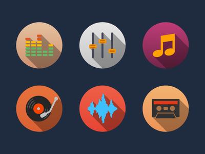 Music Flat Icons