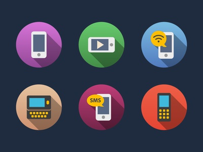 Phone Flat Icons
