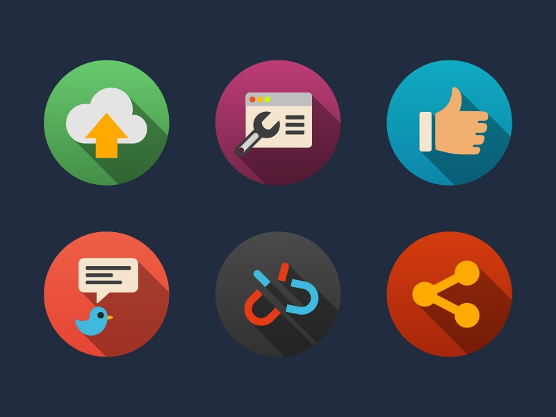 Web and Internet Flat Icons ui web icons ux app creative flat internet internet icons modern web icons web elements