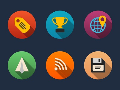 Universal Colorful Flat Icons Bundle