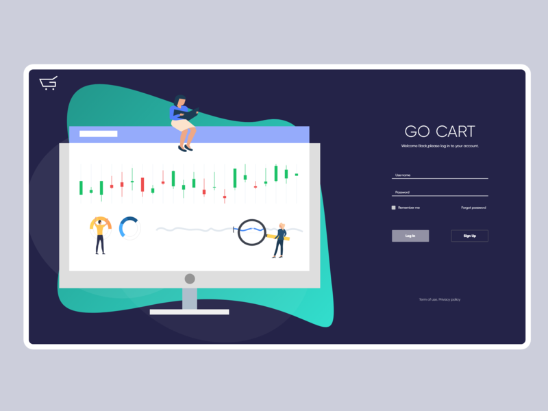 Dashboard Illustrations / Sign in sign in ecommerce illustration dashboard design gocart