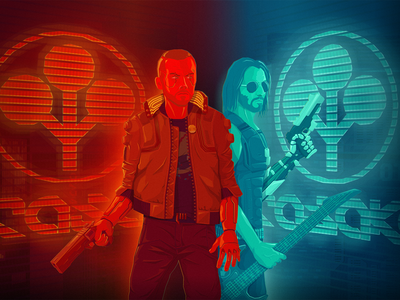 Cyberpunk 2077 illustration design poster vector illustration cyberpunk 2077 cyberpunk