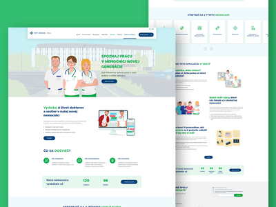 Hospital Simulation web medical doctor hospital web design uiuxdesign uiux website web design illustration