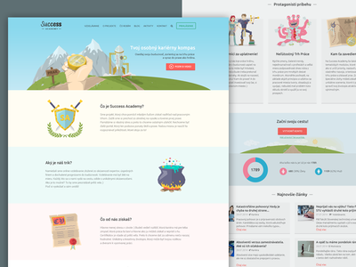 Success Academy Index illustration flat index webdesign heroes fantasy
