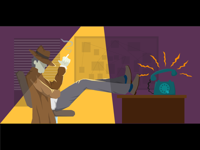 The Detective comics retro vector illustration noir detective