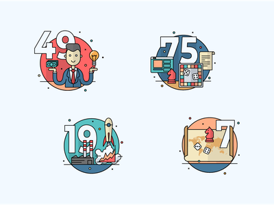 Infographics illustrations icon corporate vector flat retro illustration