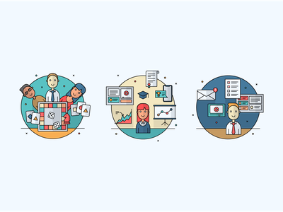 Infographics illustrations II hr icon corporate vector flat illustration