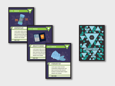 Cyberpunk Card Game III tcg sci-fi vector flat illustration design cards design cyberpunk cards