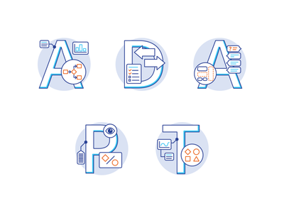 ADAPT Icons type vector design icon flat corporate illustration