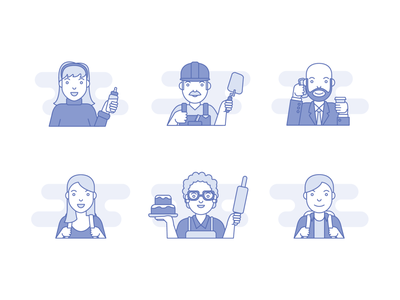 Character icons characters design hr corporate vector flat illustration