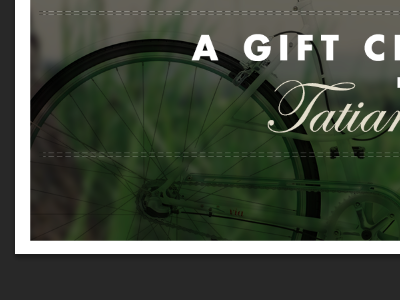 Birthday Gift Certificate gift certificate gift certificate bike grass blurry border dashed lines dashes