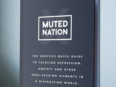 Muted Nation e-book productivity. self help self-help anxiety book cover book cover design mental health depression muted nation ebook e-book