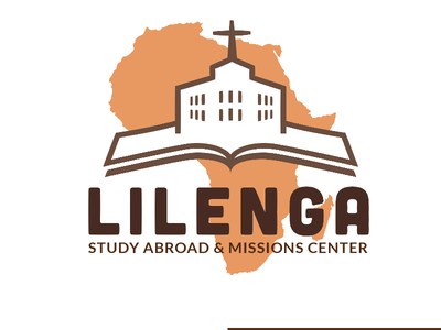 Logo for a Study Abroad Program in Africa learning college international religion christian school church white brown orange logo africa