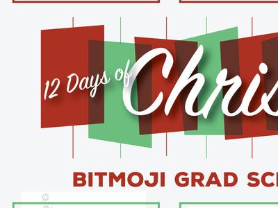 Bitmoji Twelve (12) Days of Christmas - Grad School Edition