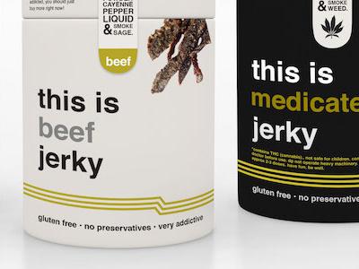Beef Jerky Concept v8 food design ux marijuana packaging design packaging jerky beef jerky