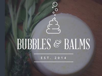 Bubbles & Balms Exploration Logo modern spa vintage bubbles