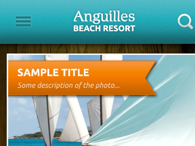 New Anguilles Beach Resort App beach resort mobile application blue wood photo