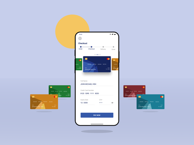 Checkout Page - Daily UI #002 app mobile app daily 100 challenge dailyuichallenge dailyui 002 checkout credit cards clean design figmadesign figma illustration