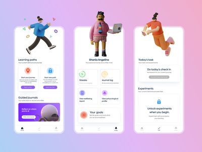 Intellect Redesign 2021 clean design clean ui clean mobile apps dailyui 3d redesign