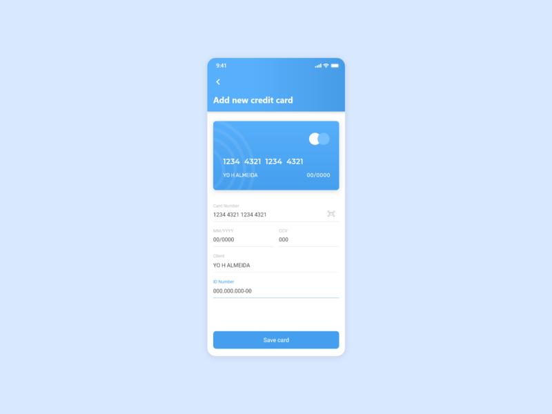 Payment Method UI - Mobile Screen ux ui minimal app design mobile app design mobile ui design credit card payment