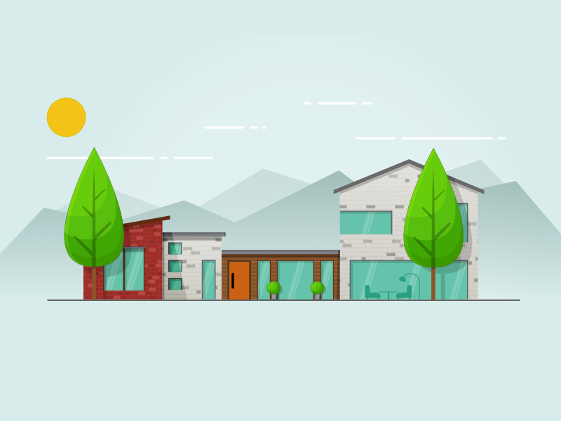 House house illustration