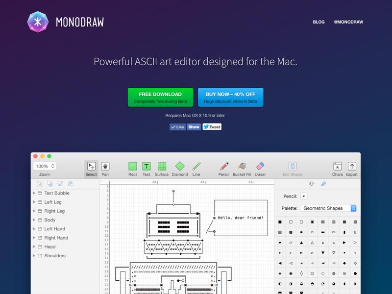 Monodraw Homepage monodraw ascii art mac software osx