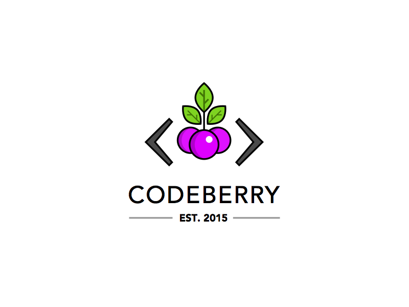 Codeberry Logo logo mark symbol berrry code codeberry