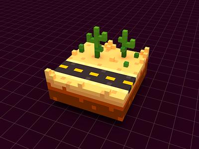 Voxel Scene desert cactus scene 3d magicavoxel voxels voxelart