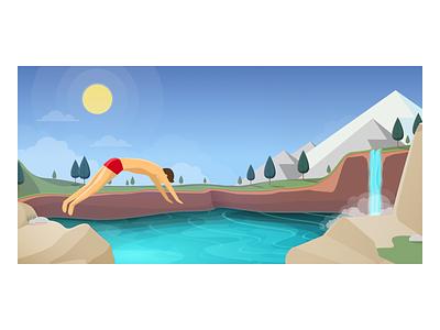 Summertime summertime design vector illustration